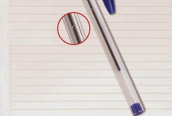 O furinho da caneta BIC