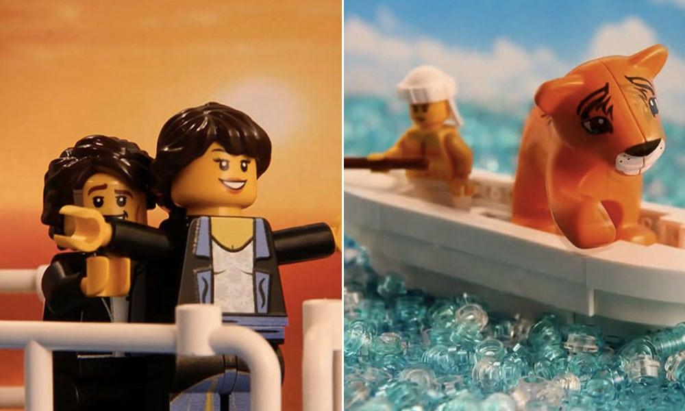 Fascinante! Cenas de clássicos do cinema recriadas em LEGO viram stop-motion