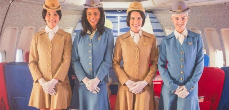 Como eram as viagens de aviões nos anos 60?