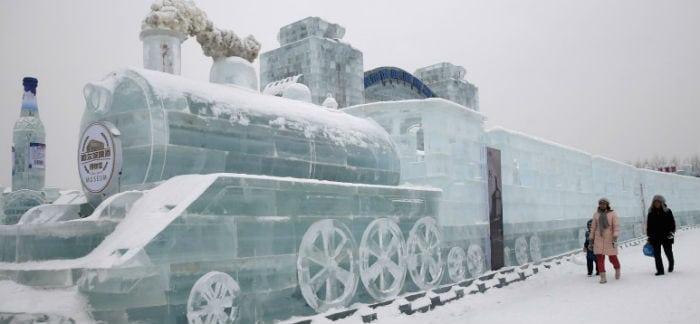 As esculturas gigantes de gelo da China