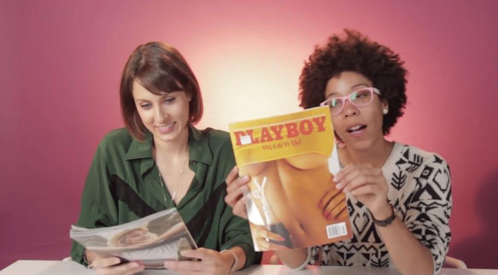 Vídeo mostra a reação de mulheres lendo revistas Playboy pela 1ª vez