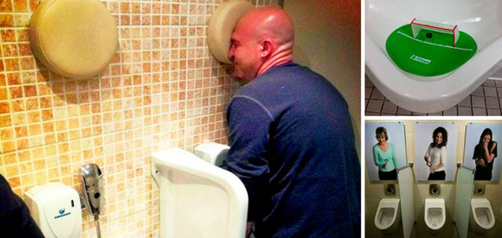20 banheiros masculinos mais criativos do mundo -> Banheiro Feminino Bla Bla Bla