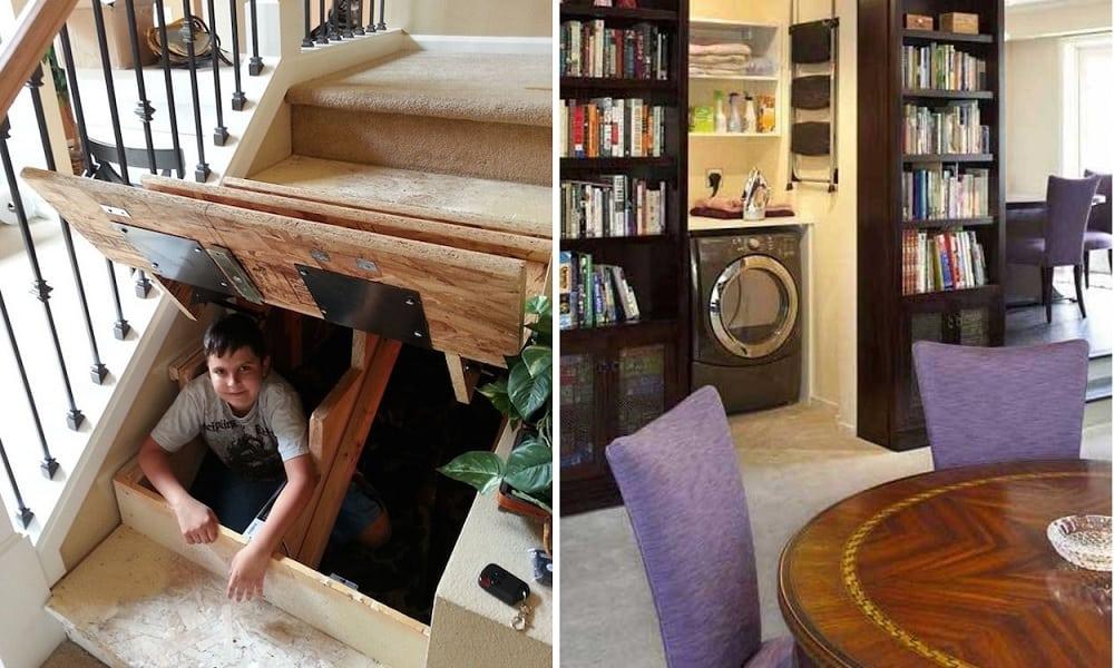 20 esconderijos secretos que todos querem em casa