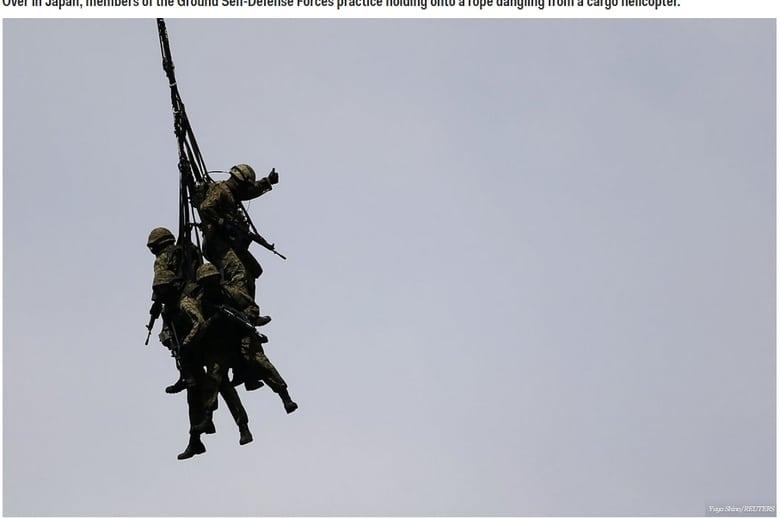 Um dos treinamentos militares mais difíceis e rigorosos do mundo também é  encontrado no exército japonês. Na imagem 671ca6a07b8