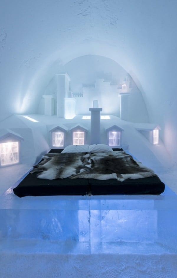 Os quartos mais incríveis do hotel de gelo da Suécia