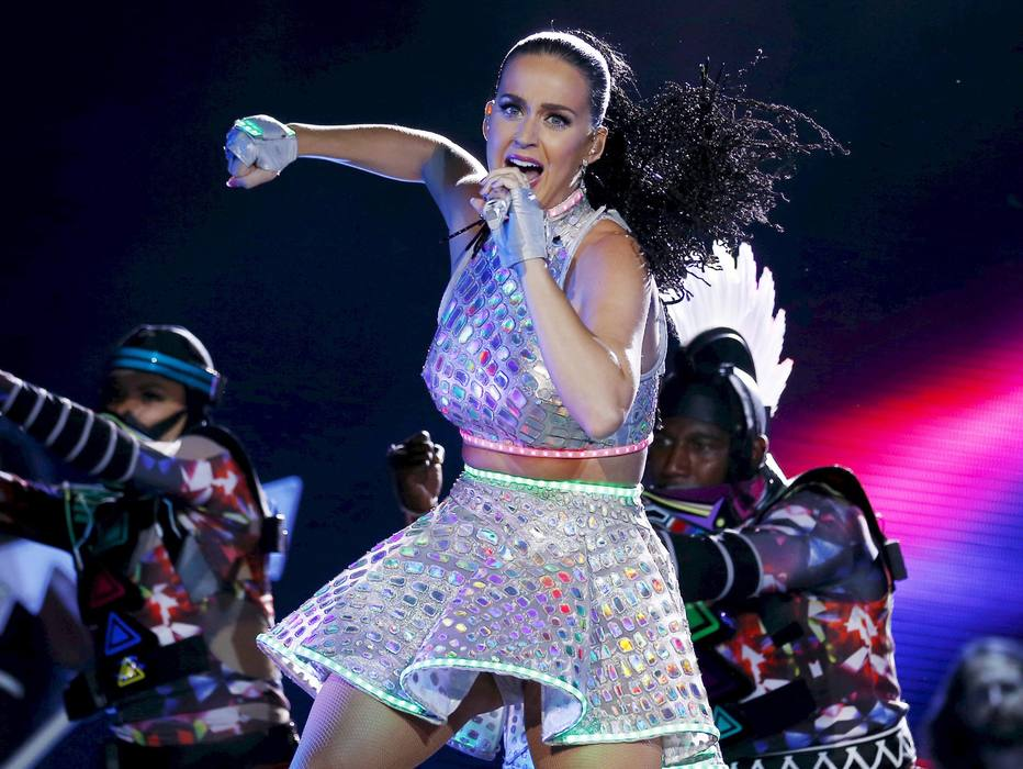 Katy Perry performs during a concert at the Rock in Rio Music Festival in Rio de Janeiro