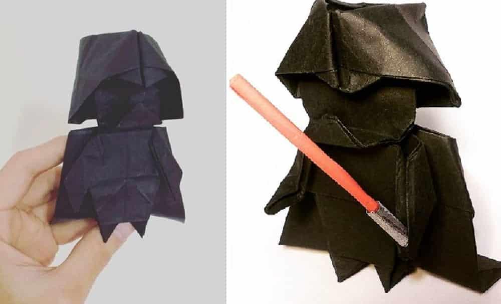 Aprenda a fazer um incrível origami de Darth Vader