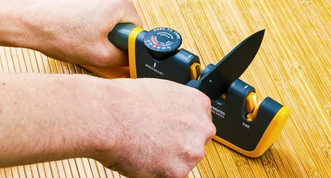 adjustable manual knife sharpener