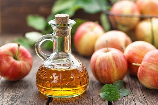 Fotografia de vinagre de maçã