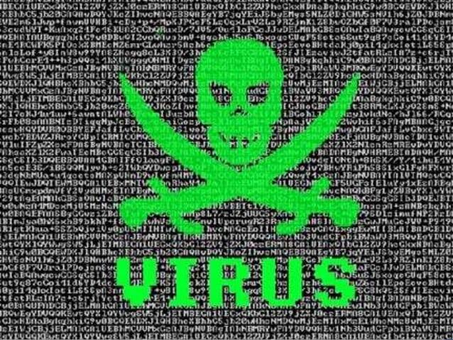 Fotografia da tela com vírus