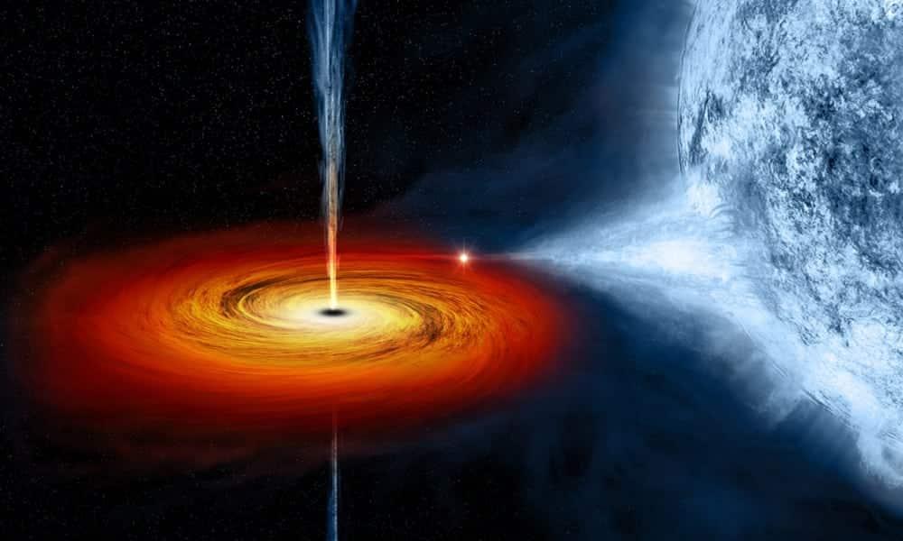 O que acontece quando um buraco negro engole um planeta?