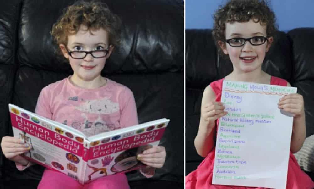 Ela tem 6 anos e criou uma lista de lugares que quer ver antes de ficar cega