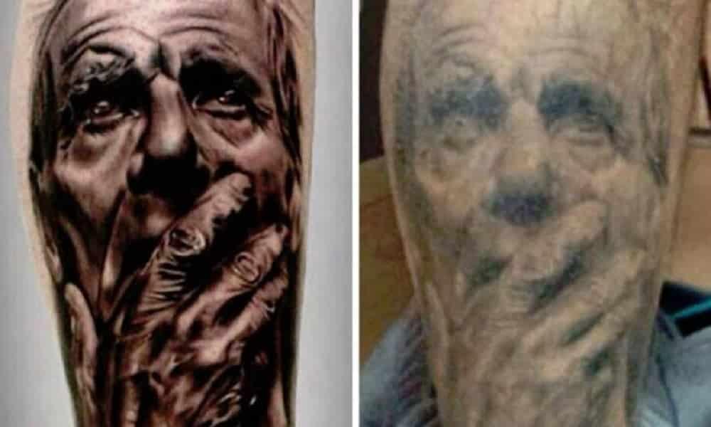 Tatuagens envelhecem? Veja o antes e o depois das tatuagens