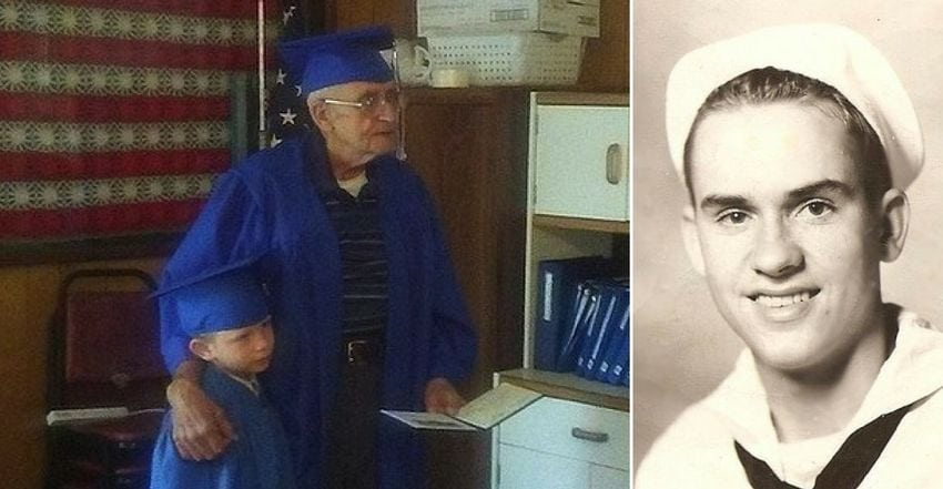 Ele deixou o ensino médio para lutar pelo seu país, 70 anos depois, ele finalmente se formou