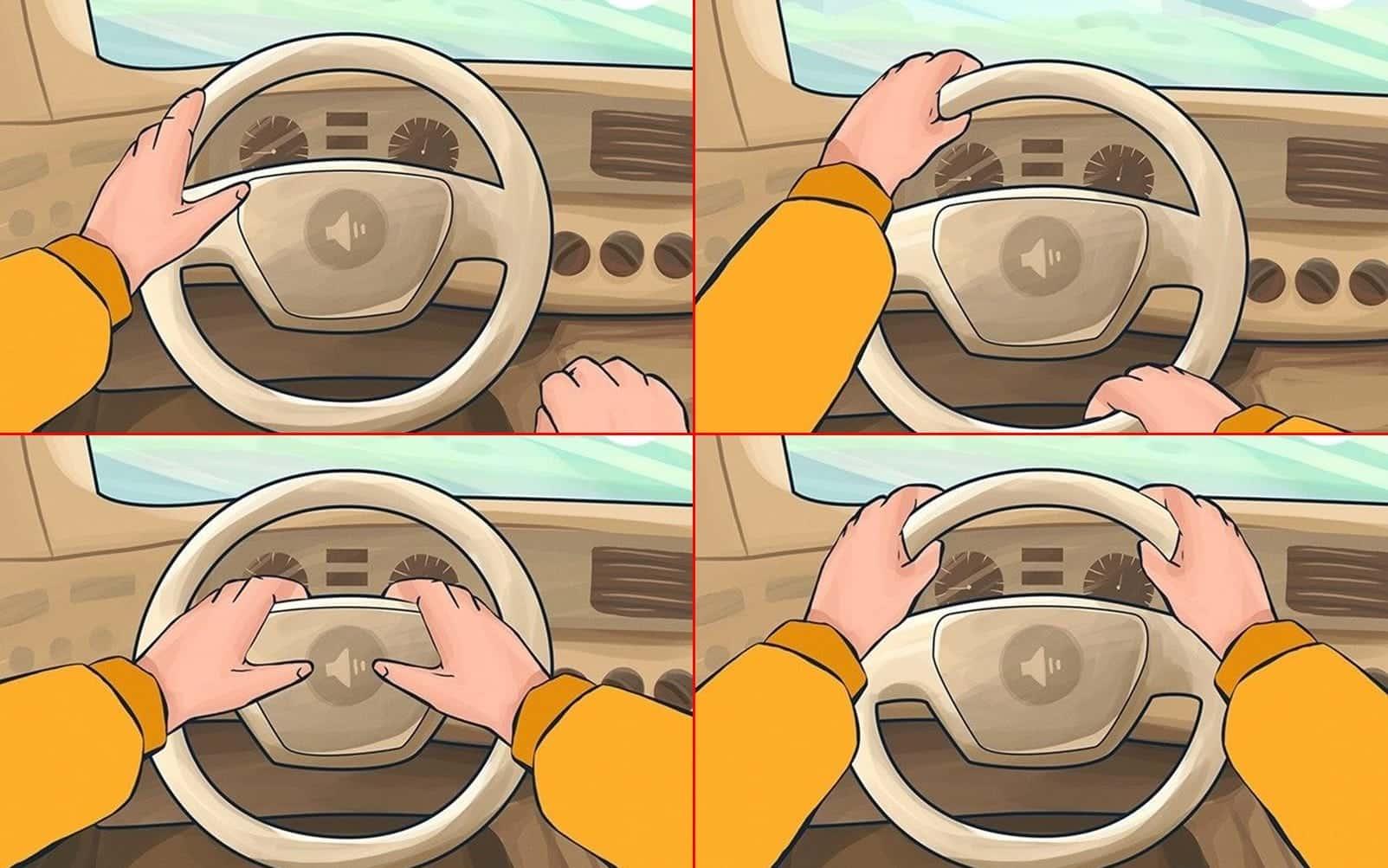 Teste: A maneira como você segura o volante pode dizer muito sobre você