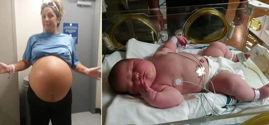 Mãe da à luz a um bebê de 6 quilos e vira sensação na internet