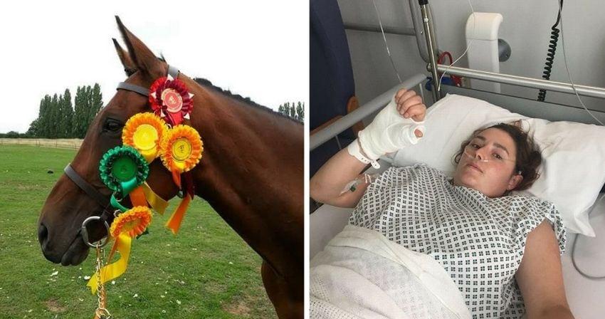 Cair de um cavalo salvou a vida desta mulher