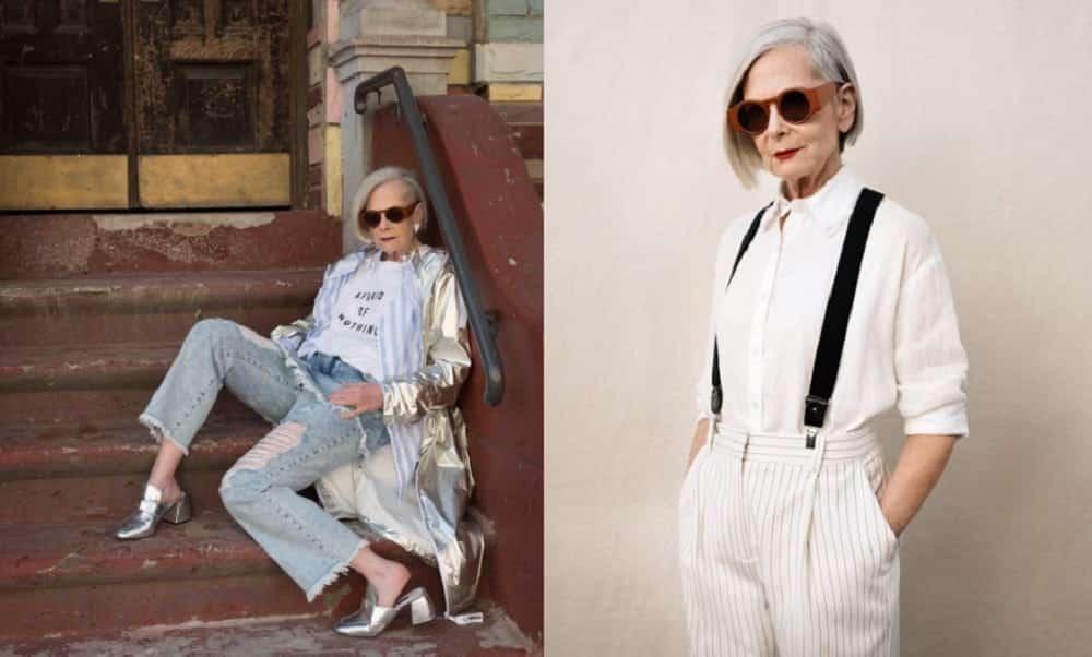Ela tem 63 anos e acabou de começar sua carreira como modelo