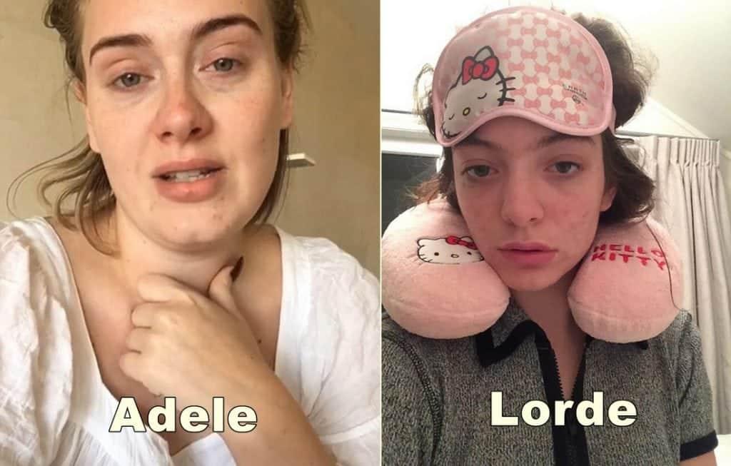 Celebridades mostram que por trás da maquiagem são como qualquer outra mulher