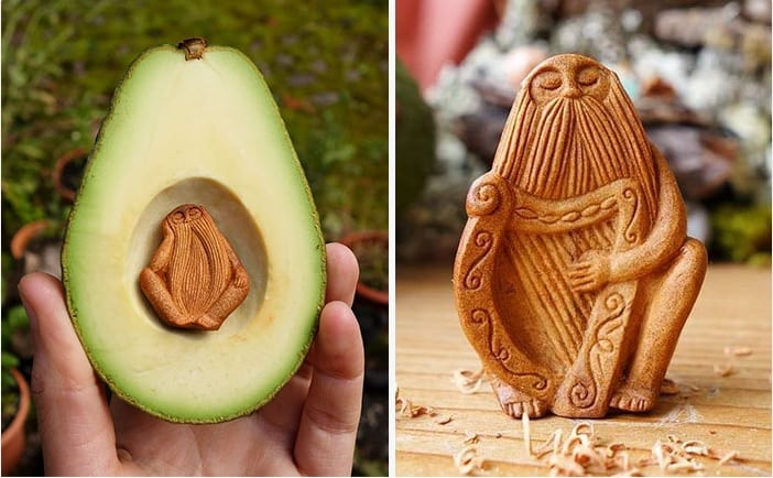 A maioria das pessoas joga o caroço do abacate fora, mas essa artesã não