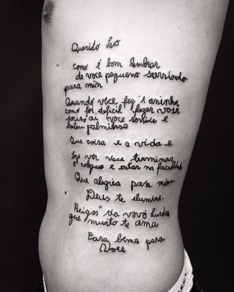 Jovem Tatua Carta Da Avó Com Alzheimer E Emociona Internet
