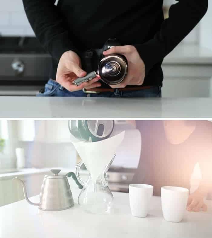 Truques de câmera com objetos diversos