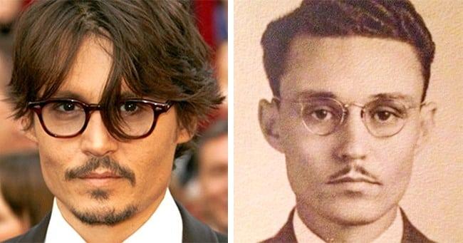 Casos de semelhanças inacreditáveis entre celebridades e pessoas do passado
