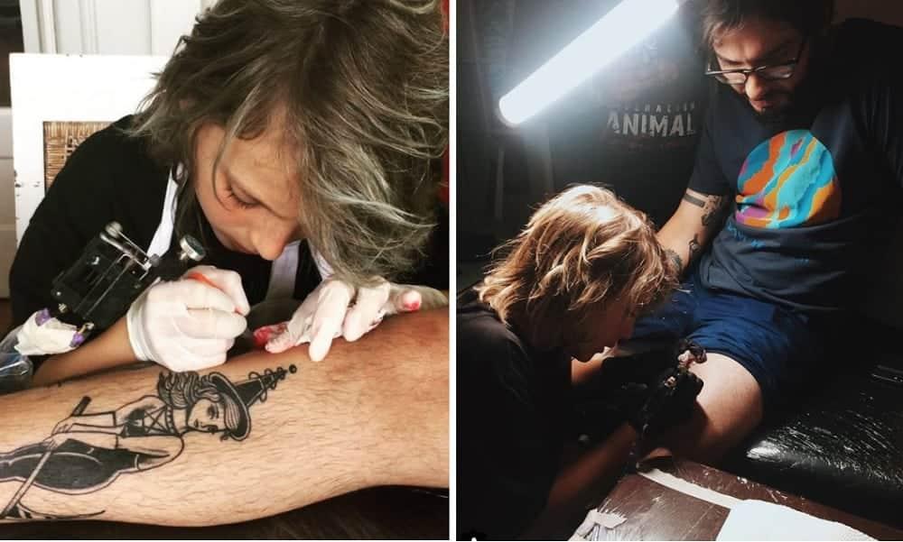 Garoto de 12 anos está fazendo sucesso como tatuador no Panamá