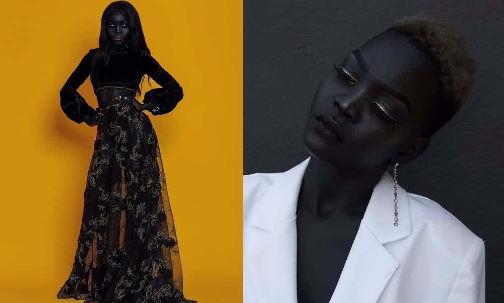 Modelo sudanesa está fazendo sucesso por tom de pele fascinante