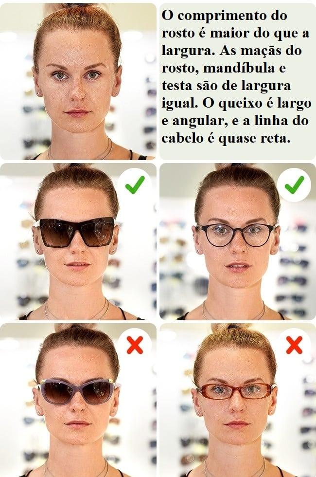 b139d9373517b O objetivo é que seu rosto pareça visualmente mais amplo. Procure óculos  grandes e de aparência marcantes. Além disso