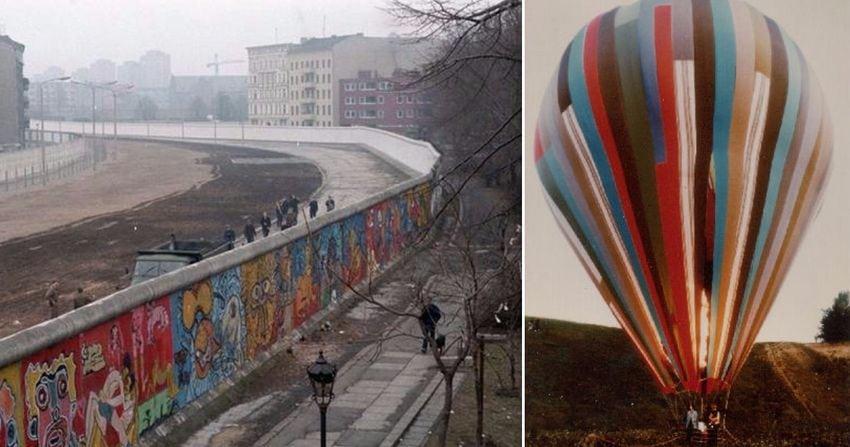 Pessoas que encontraram maneiras inacreditáveis de escapar do Muro de Berlim
