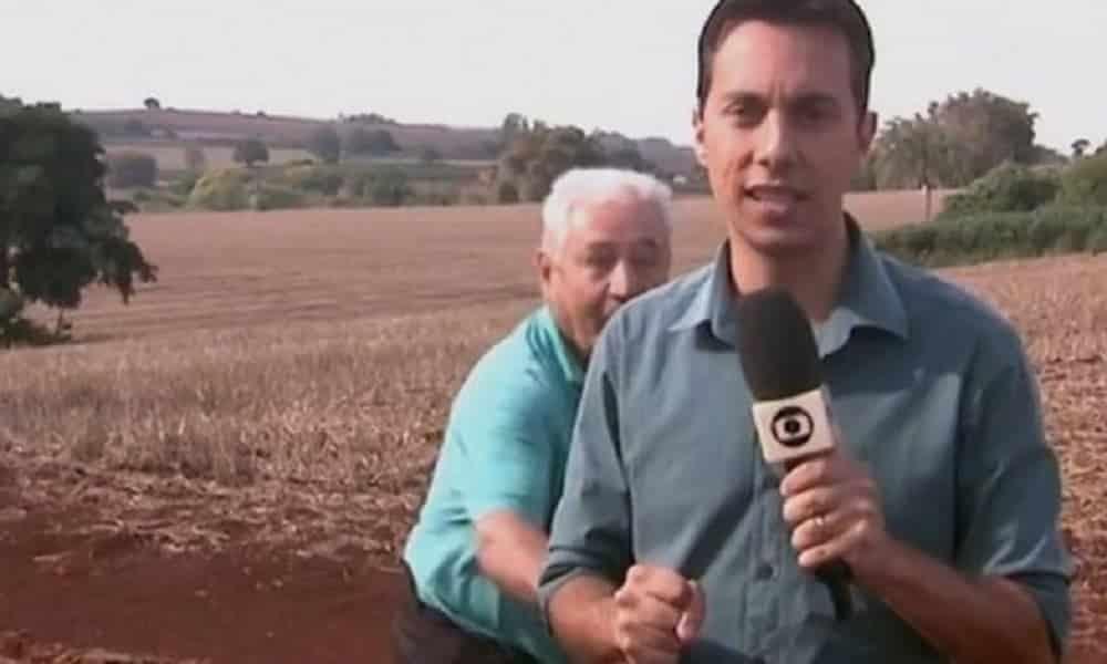 Repórter se assusta com onça por causa de entrevistado zoeiro