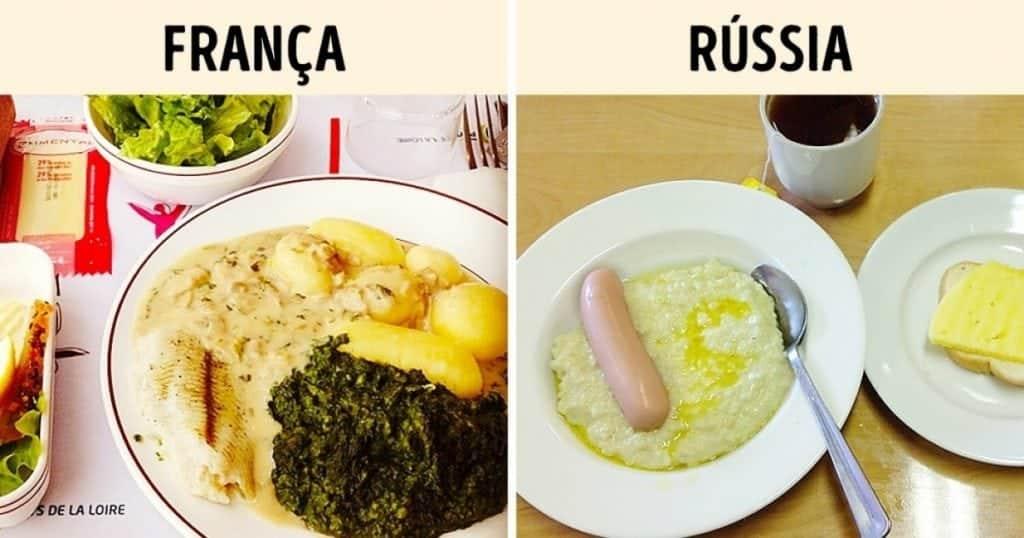 Como é o almoço em 12 países diferentes?