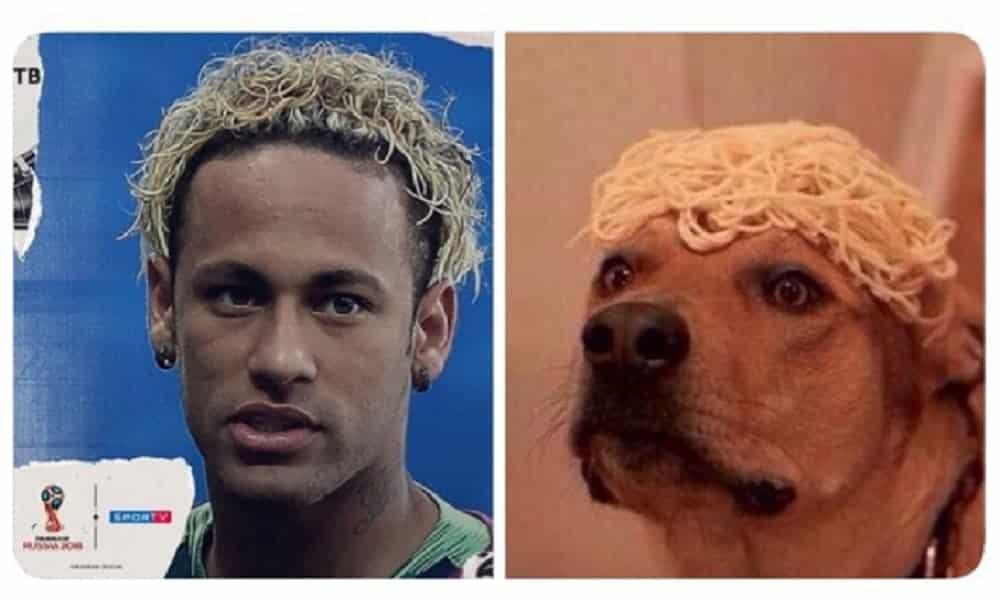 Torcedores não perdoam cabelo de Neymar e enchem e internet de memes