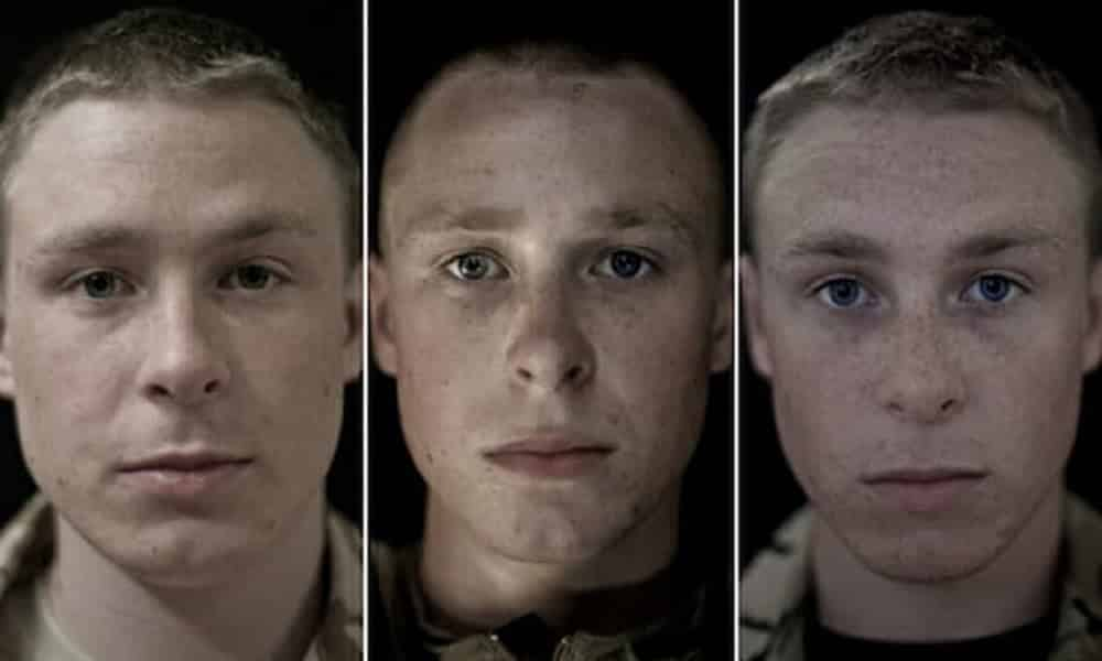 Série de fotos mostra como a guerra afeta a fisionomia dos soldados