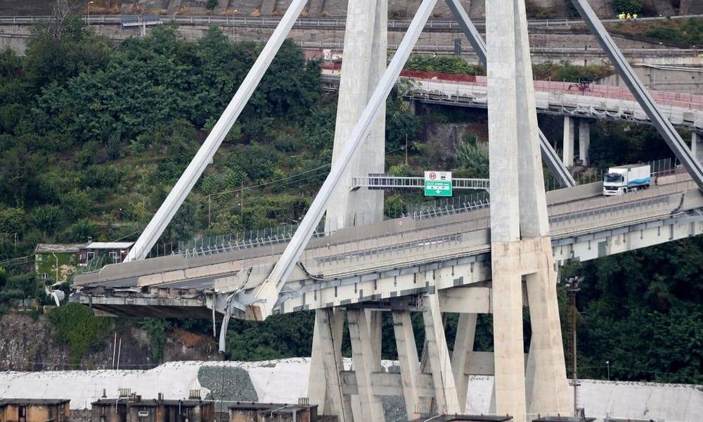 Tragédia em Gênova: assista ao instante em que a ponte Morandi cai