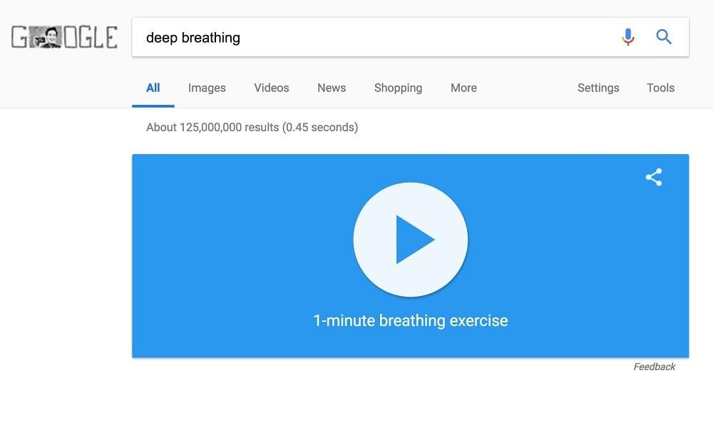 Google agora tem exercício de respiração nas buscas para o PC e celular