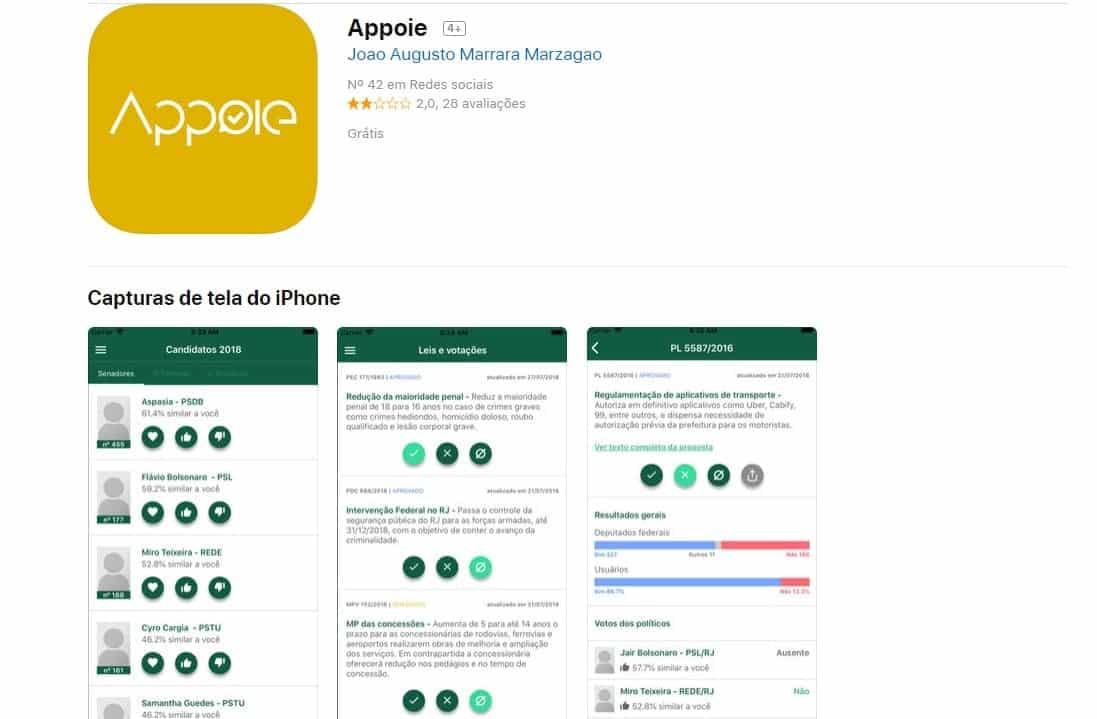 Apps e sites