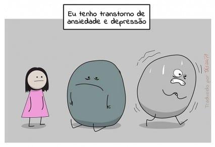 Depressão e ansiedade ganham ilustração para todos entendam o assunto