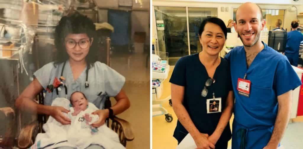 Enfermeira descobre que novo colega é um bebê de quem ela cuidou