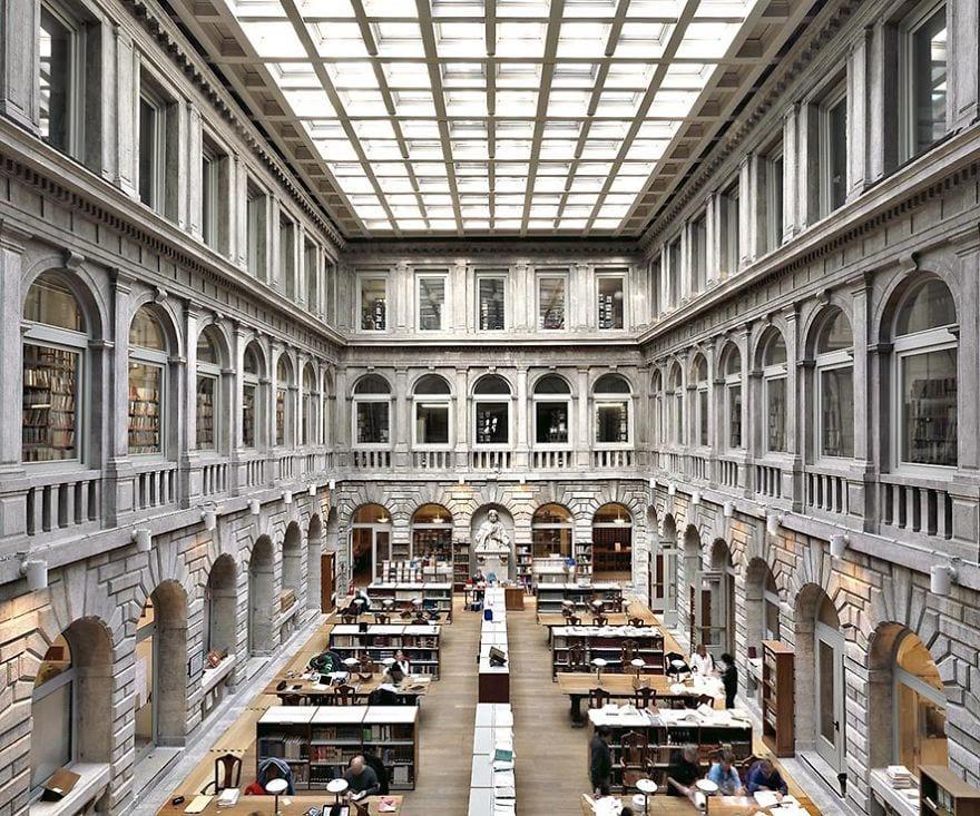 Fotógrafo italiano viaja para registrar as bibliotecas mais incríveis do mundo