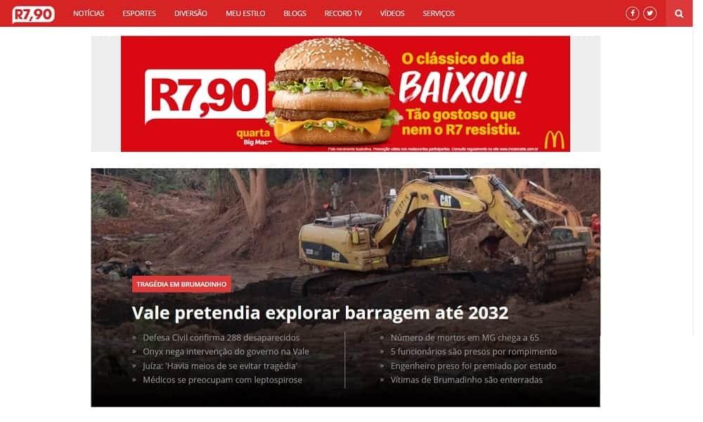 Portal R7 muda de nome por causa de McDonalds