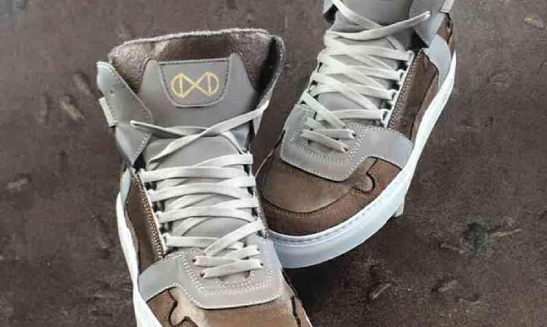 Marca vegana cria sapatos de pó de café