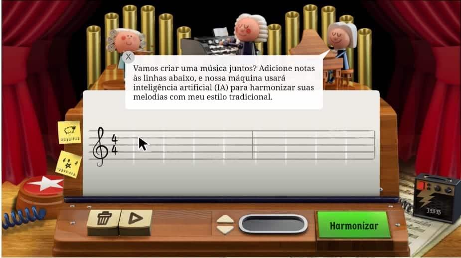 Doodle de Johann Sebastian Bach