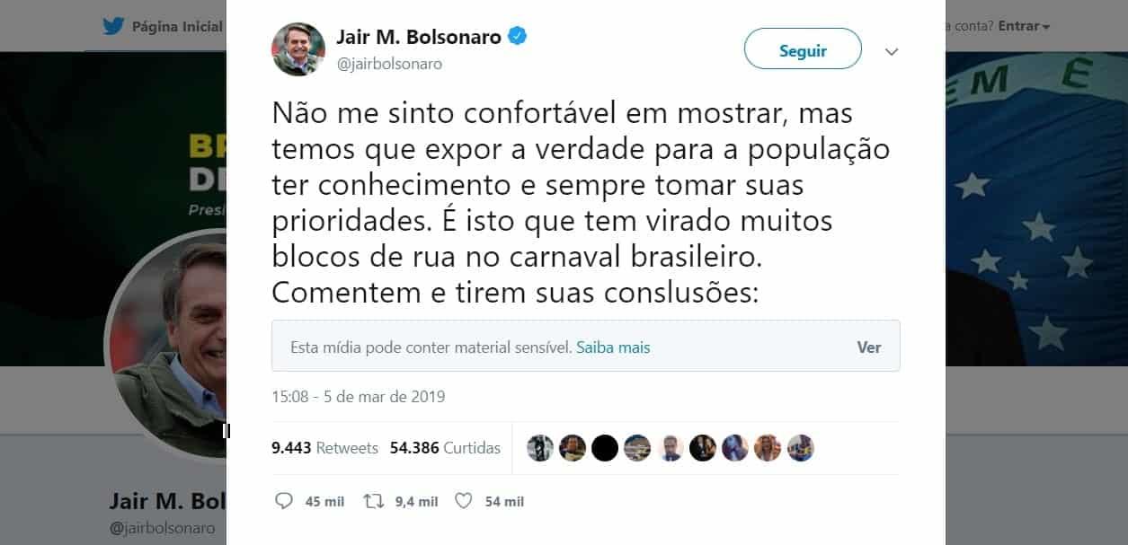 O que é Golden Shower? Pergunta de Bolsonaro no Twitter repercute internacionalmente