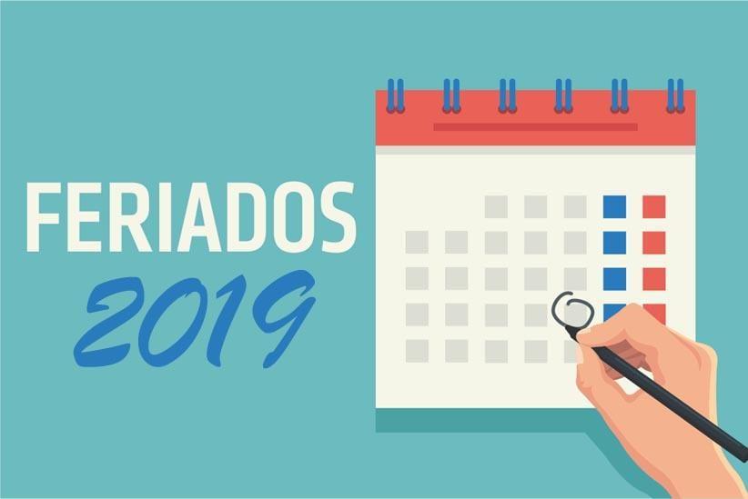 Quais são os feriados prolongados em 2019 que ainda virão