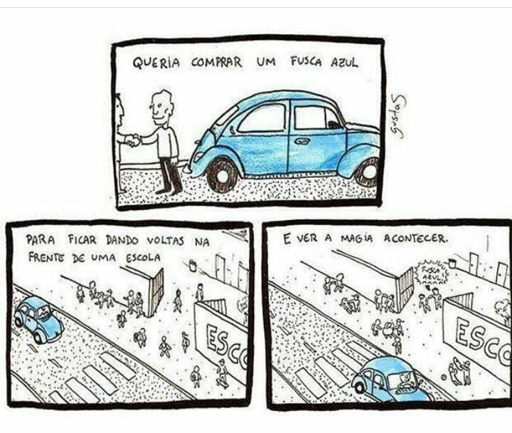 Fusca azul: A brincadeira que já deu o que falar, ou melhor, socar