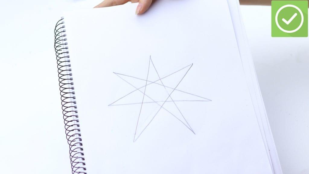 Desenho de estrela, como fazer? 5 métodos com passo a passo simples