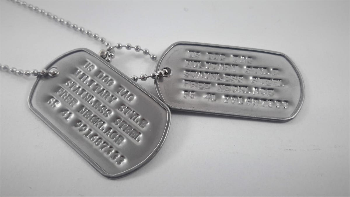 dog tag exemplo