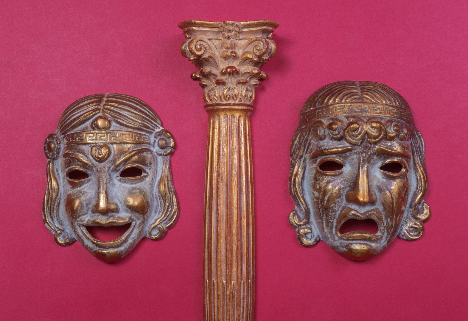 Máscaras de teatro - Origem, simbolismo e representação no teatro grego